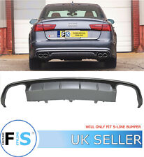 AUDI A6 S6-LOOK REAR DIFFUSER LIP FOR S-LINE (2016+) ABS PLASTIC 100% OEM FIT