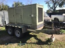 Cummins Turbo Diesel Generator 175kw 120208 3 Phase On Trailer 200 Gallons Tank