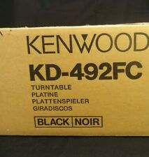 NEW KENWOOD KD-492FC 492 FC BLACK TURNTABLE FULL AUTOMATIC PARTIALLY SEALED BOX