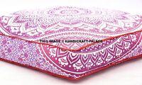 Indien Ombre Mandala Coton Sol Coussin Yoga Oreiller Ottomane Carré Rose Pouf