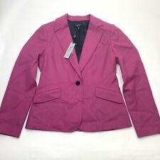 NWT Talbots Womens Size 8 Blazer Pink Wool Blend Kate Fit Jacket MSRP $179 New
