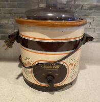 Vintage Rival 3.5 Qt Crock Pot Slow Cooker Removable Server Tested Almond 3150