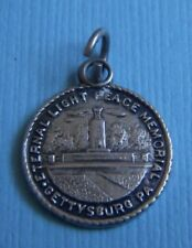 Gettysburg Pennsylvania sterling charm Vintage Eternal Light Peace Memorial