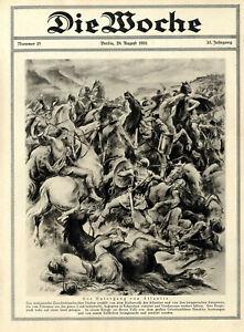 Amazonen vs Atlantier Tritonsee Der Untergang von Atlantis Grafik von 1931