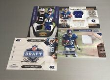 🏈 2009 HAKEEM NICKS Giants Rookie Auto + Jersey Patch /50 (4-Card Lot) 🏈