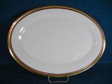 "Lenox Aristocrat Gold Trim 16 1/2"" Oval Serving Platter Turkey Size!"