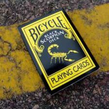 BLACK SCORPION DECK BICYCLE PLAYING CARDS - MAGIC CARD TRICKS COLLECTOR GAMES
