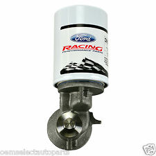 NEW OEM Ford Racing Aluminum 90 Degree Oil Filter Relocation Adapter - With FL1A
