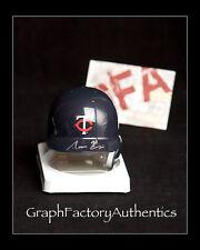 Aaron Hicks *MINNESOTA TWINS* Signed Autographed MLB Mini Helmet A2 COA GFA
