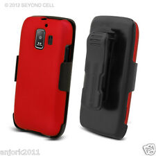 Huawei Fusion 2 AT&T U8665 Hard Case+Holster Combo w/ Swivel Belt Clip Red