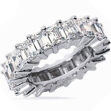 3.78 carat Emerald Cut DIAMOND Eternity Band, 14K Gold RING 24 x 0.16 ct size 5