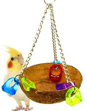 982 COCO CUP BIRD TOY parrot cage toys conure amazon african grey lorie conure