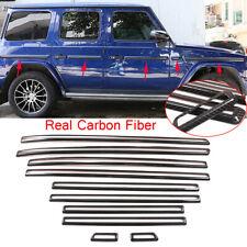 10*Carbon Fiber Door Side Molding Cover Fit For Benz G W463 G350 G55 G63 19-2020
