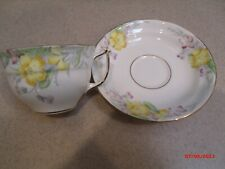 Old Royal Bone China Tea Cup and Saucer - Colorful Flowers