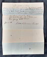 Antique 1895 Clark Hutchinson Paper Invoice CONSTABLE SALE HORSE AUCTION Boston
