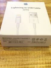 Original & Genuine Apple 2m Lightning Cable for iPhone (MD819ZM/A) (NON-E75)