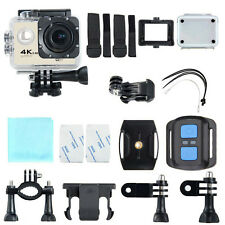 USAQ 16MP 4K Action Camera w/ WiFi, LCD, Accessory Pack, Waterproof Case, Remote