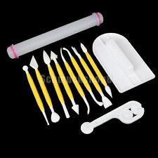 Set11 Pcs Auswerfer Stempel Modellierwerkzeug Glätter Fondant Werkzeuge Tool