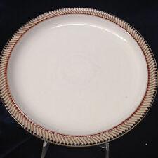 """DENBY LANGLEY LUXOR DINNER PLATE 10 1/4"""" TAN RED & BLUE GOEMETRIC EDGE"""