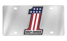Harley-Davidson Number 1 American Flag Decorative Vanity License Plate NICE  NEW