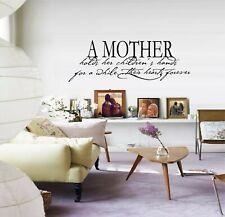"A Mother holds her Children's Hands Vinyl Decal Home Décor 10"" x 29"""