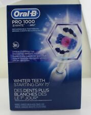 Oral-B Pro1000 3D White Rechargable Electric Toothbrush Unique Polishing Cup NEW