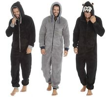 Mens Snuggle Fleece Hooded OneZee / All in One Pyjama / Lounger