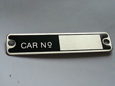 Austin 7 Seven Box Car No Number Badge Plate 1928 - 1934