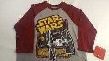 Star Wars Fifth Sun Imperial Fighter Baseball 3/4 Sleeve T-Shirt Young Mens S