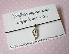 """'plumas aparecen cuando los ángeles están cerca de """"ala pulsera con dijes De Amistad deseo"""