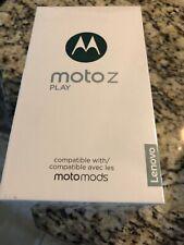 MOTO Z PLAY 32GB GREY PHONE 4G LTE w/ Cases GSM Unlocked Motorola Lenovo Cell