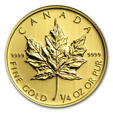Canada 1/4 oz Gold Maple Leaf (Random Year) - SKU #11