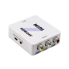 Mini Composite HDMI to AV CVBS 3RCA Video Converter Adapter 720p 1080p Upscaler