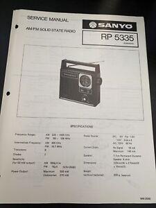 Original Sanyo RP 5335 Portable Radio Service Manual