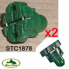 LAND ROVER INTERIOR DASH BULB & HOLDER SWITCH x2 GREEN DISCO RANGE STC1878 OEM