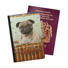 Pug In A Basket Dog Owner Dogs Paws Pugs Passport Holder Travel Flip Cover Case