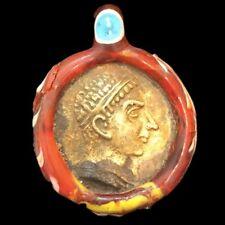 RARE HUGE PHOENICIAN GREEK COIN PENDANT 300BC SUPER QUALITY (2)