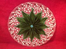 Antique German Majolica Lily of the Valley Wall Platter c.1891-1912, gm924