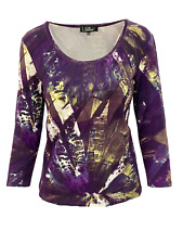 Lior Paris Women's Abstract Print 3/4 Sleeve Round-Neck Top