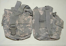 4X Molle II ACU 1QT Canteen/General Purpose Pouch, Military Issue, FAIR-GOOD