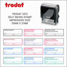 Self Inking Garage Mechanic Home Service Rubber Stamp - 55 X 21mm - Trodat 4913