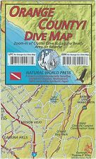Orange County California Coast Dive Map Waterproof Map by Frank Nielsen