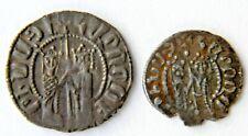 ARMENIA,HETOUM / ZABEL(1226-1271) 2 Silver Coins,KING/QUEEN,CROSS/LION,Armenian