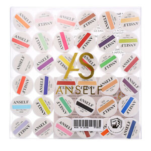 Anself 36 Color Nail Art Pigment Set UV Gel Builder Polish Solid Glue Tool