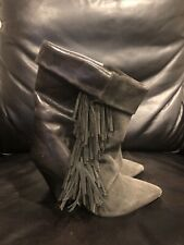 Isabel Marant For H&M Fringe Ankle Boots- Size 36/US 5.5