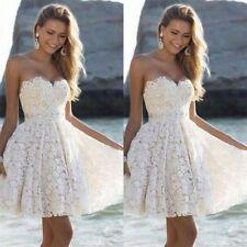 Mini Short White/Ivory Wedding Dress Beach Ball Bridal Gown Custom Size 4-26+++