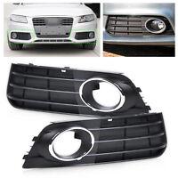 1 pair 2pcs Fog Light Lamp Cover Grille fit Audi A4 B8 2008 2009 2010 2011 2012