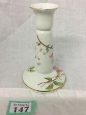 Beautiful Candle Stick Holder Limoges France Wild Pink Rose Vintage