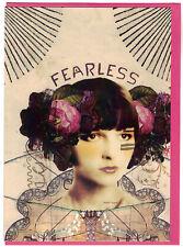 Papaya Art  ' Fearless '  Blank Fine Art  Greeting Card