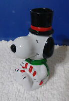 Vintage 1987 Christmas Snoopy Candle Holder Peanuts Willitts Designs Chimney